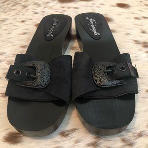Free People Shoes - Free People Westtown Slide Clog - Blk Sz. 9